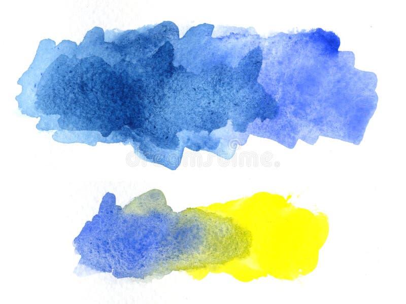 Watercolor blotches