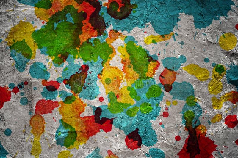 Watercolor blots background stock image