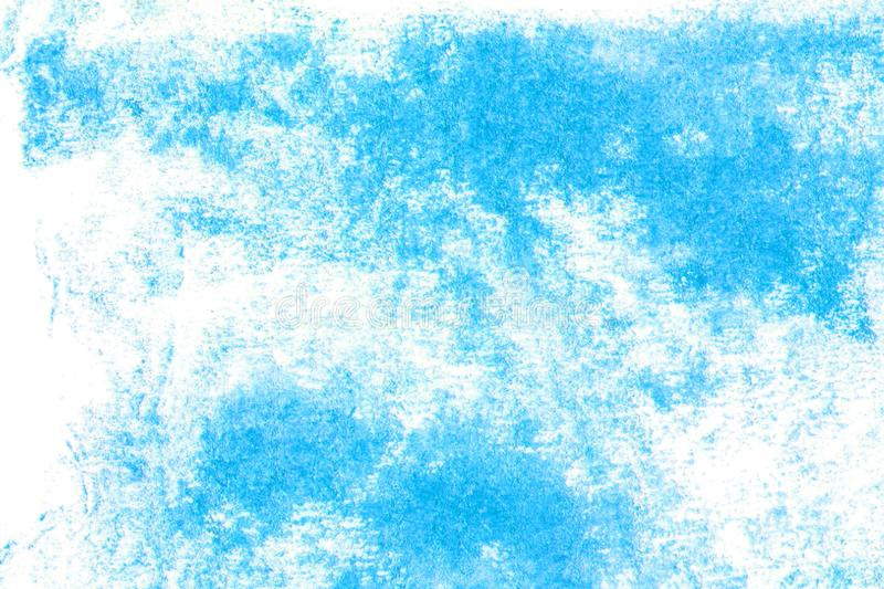 Watercolor blue background on paper. Abstract illustration stock illustration