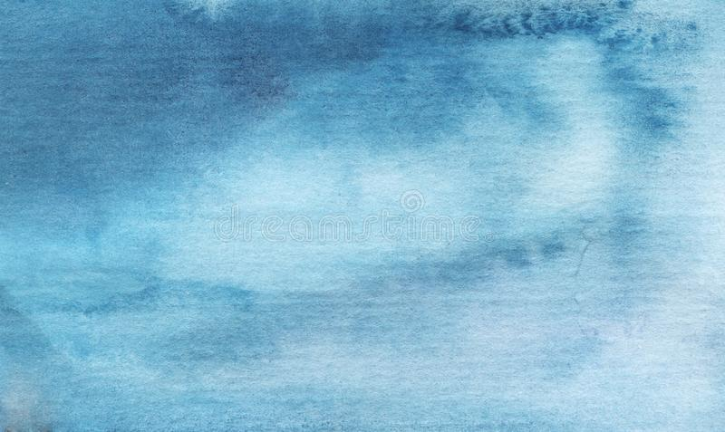 Watercolor blue bright abstract background stock image