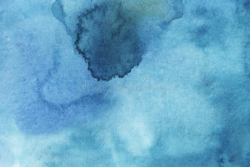 Watercolor blue bright abstract background royalty free stock photo