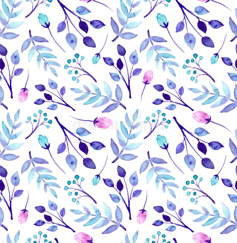 Watercolor blue and pink flowers repeat pattern stock illustration download watercolor blue and pink flowers repeat pattern stock illustration illustration of repeat dark mightylinksfo Gallery