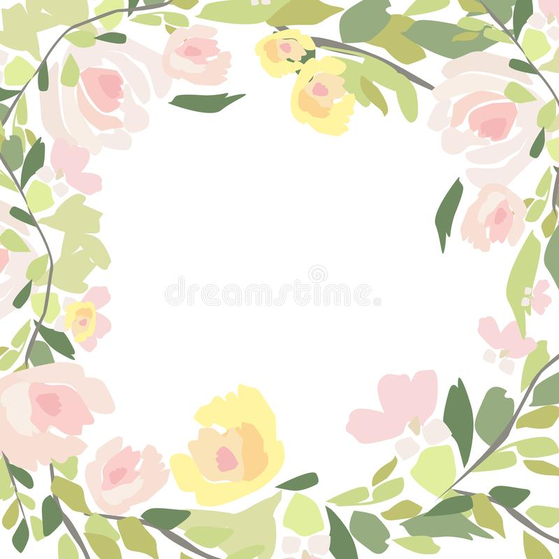 Watercolor bouquet of flowers. Hand painted colorful floral. Hand painted colorful floral composition isolated on white background. Vintage style peony, roses royalty free illustration