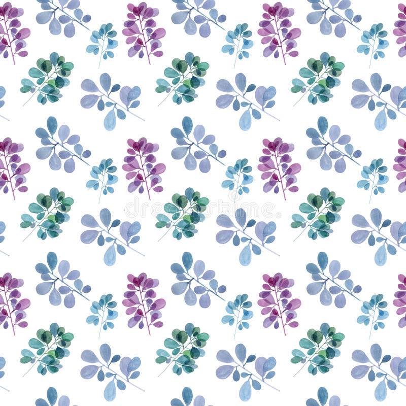 Watercolor branch pattern stock images