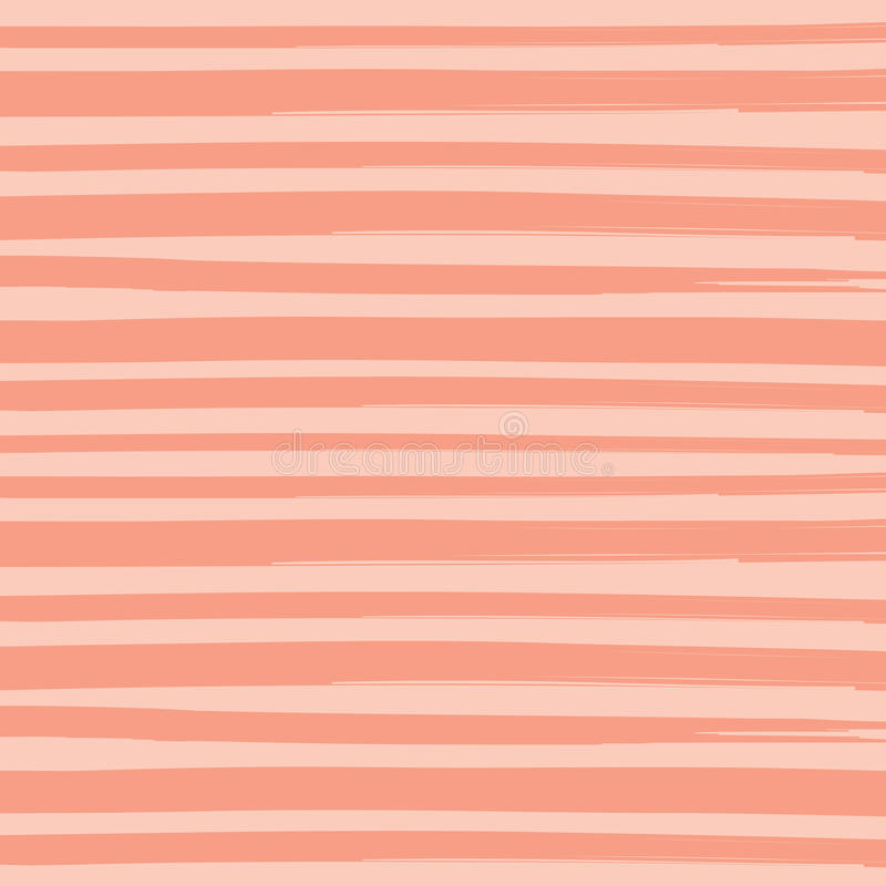 Watercolor Brush Orange Pant Stripes Pattern Background. Vector illustration of watercolor paint brush orange stripes pattern background royalty free illustration