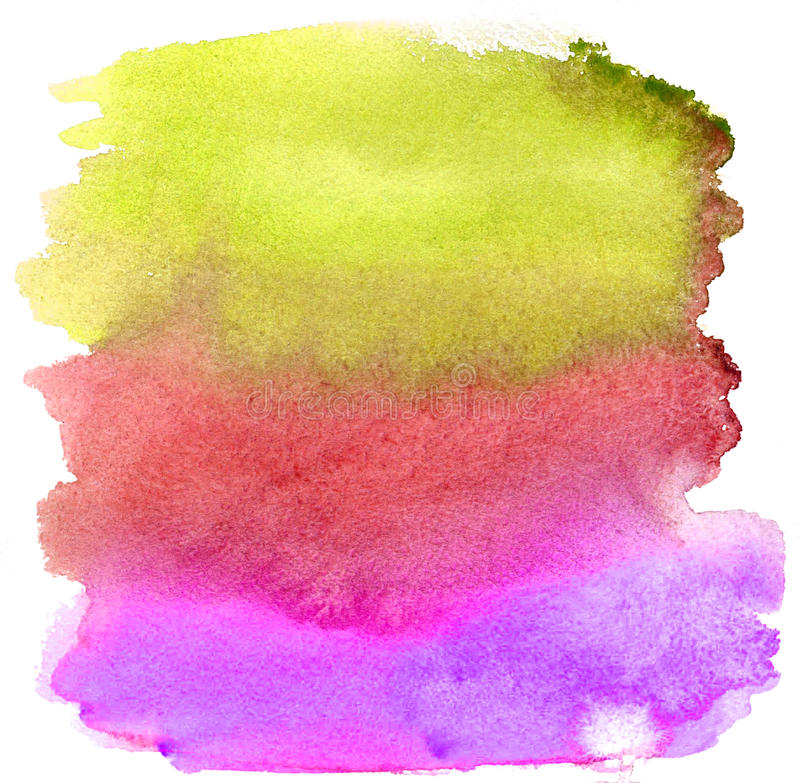 Watercolor brush strokes. Background