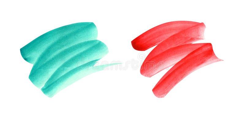 Watercolor brushstrokes σε ένα άσπρο υπόβαθρο ελεύθερη απεικόνιση δικαιώματος
