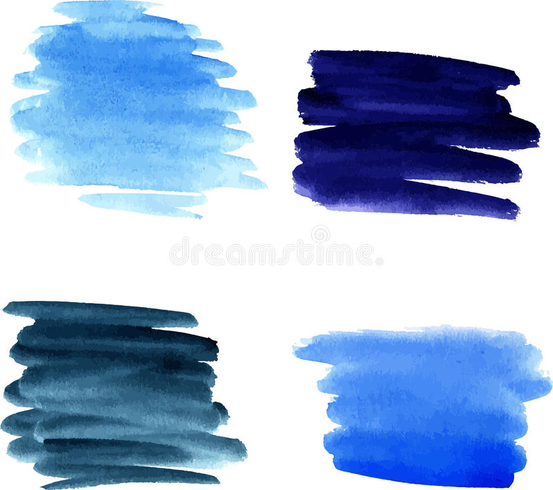 Watercolor brushstrokes royalty free illustration