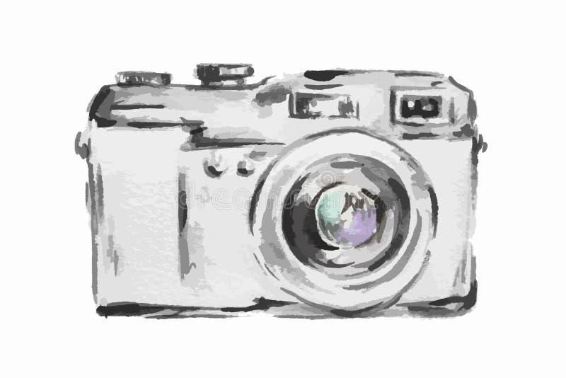 Watercolor camera. stock vector. Illustration of artwork ...