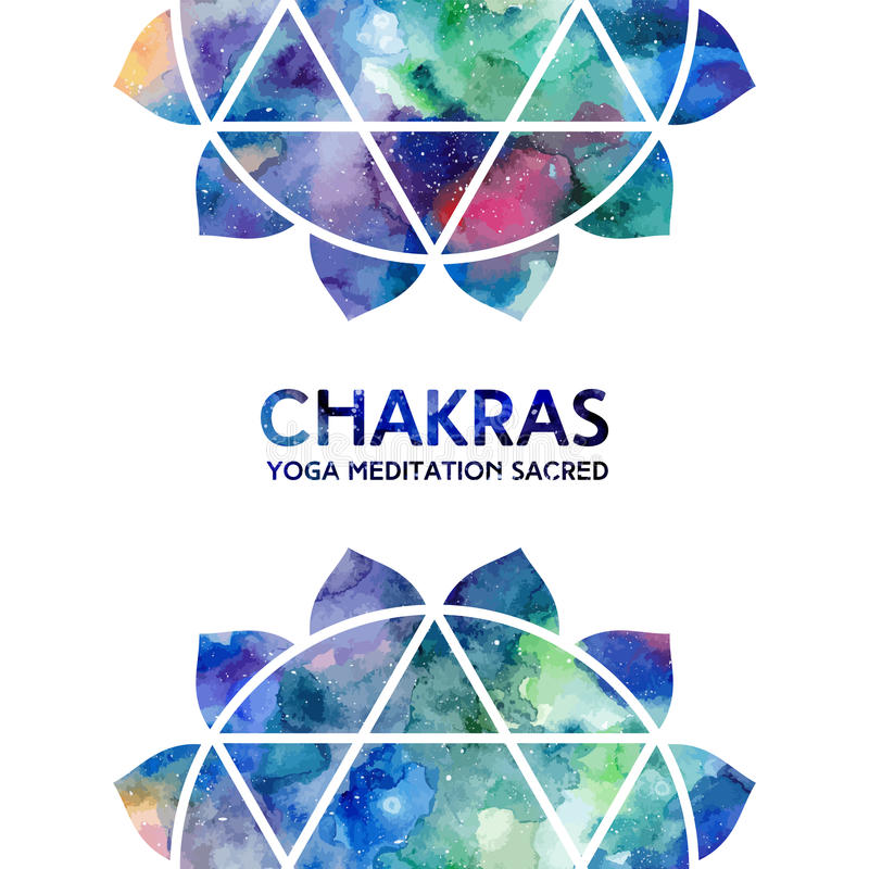 Watercolor chakras background royalty free illustration