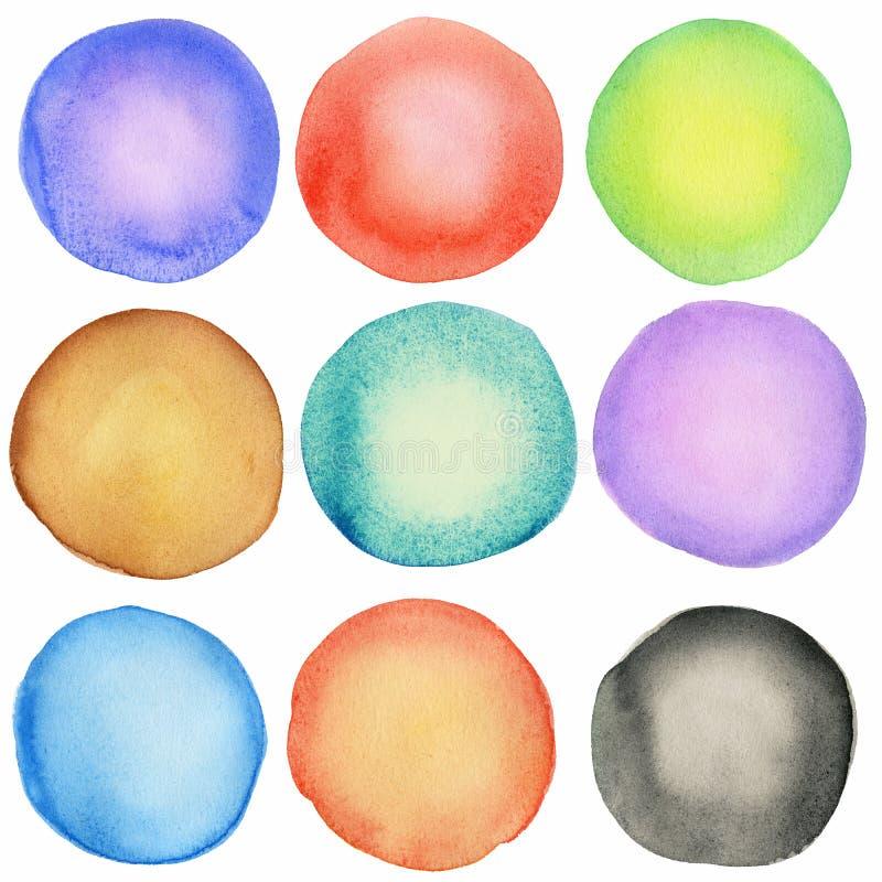Download Watercolor Circles Royalty Free Stock Photos - Image: 24881728