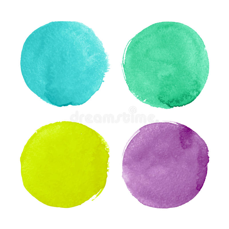 Download Watercolor circles stock vector. Illustration of shape - 35733814