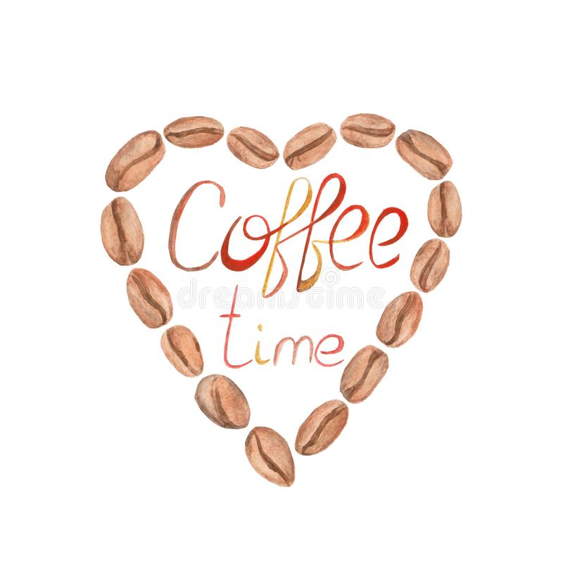 Free Watercolor Coffee Time Illustration. Isolated Illustration For Design, Print Or Background Stock Photos - 103670393