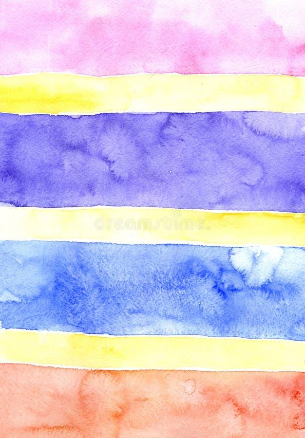 Watercolor color bars background vector illustration
