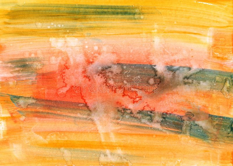 Watercolor color stains and brush strokes. Abstract texture royalty free illustration