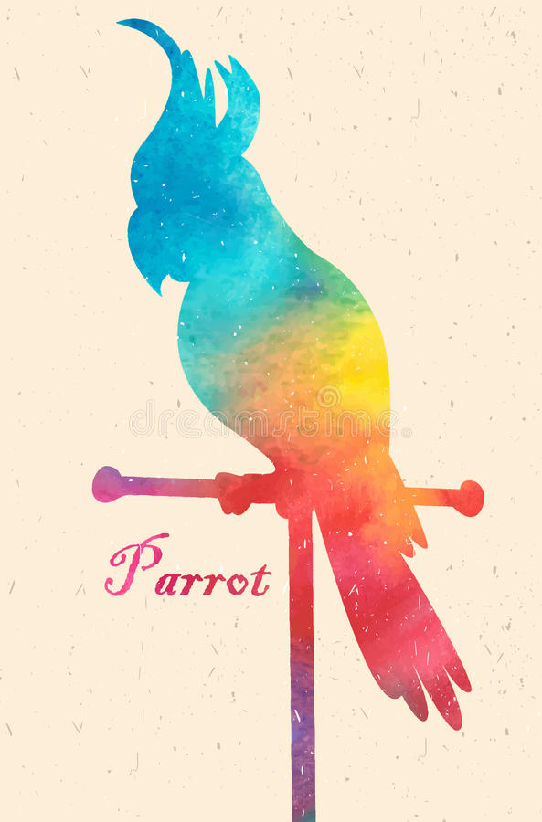 Watercolor colorful bird. Watercolor painting. Watercolor colorful bird.Watercolor painting vector illustration