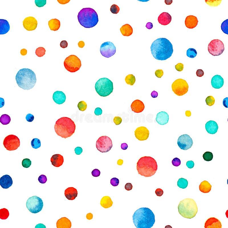 Watercolor confetti seamless pattern. royalty free stock photo