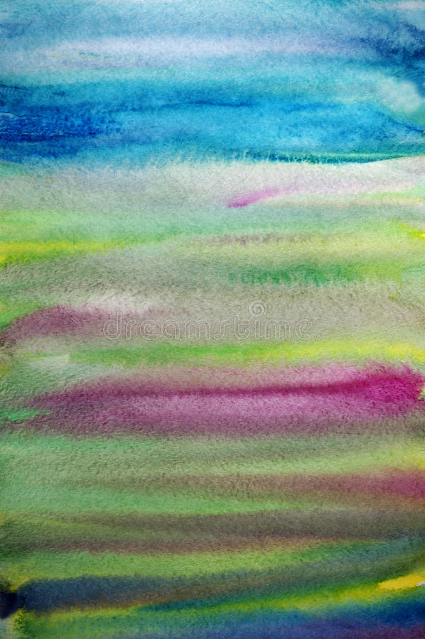 Watercolor creative striped art background royalty free stock photo