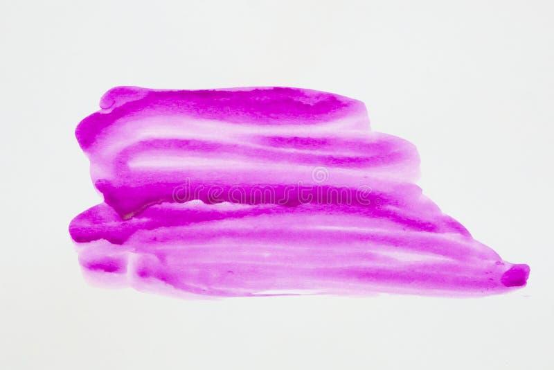 watercolor Dipinga le macchie su un foglio di carta bianco Acquerello di astrazione fotografie stock