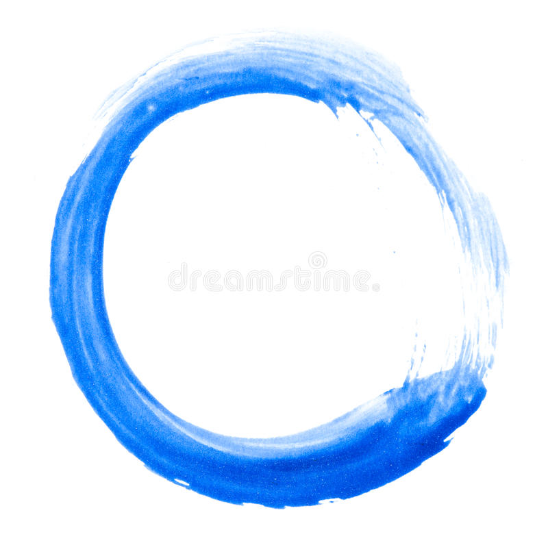 Watercolor doodle circle royalty free stock photography