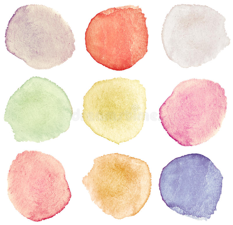 Watercolor dots royalty free illustration