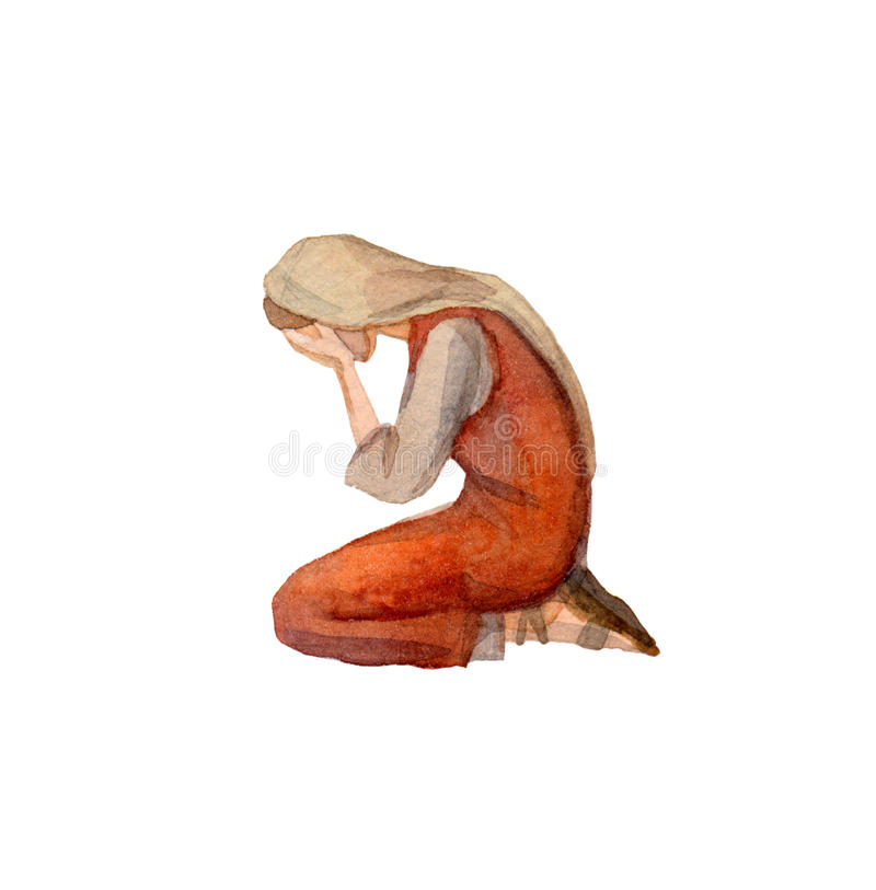 Free Watercolor Drawing Of Woman In Ancient Clothes Royalty Free Stock Photo - 86328065