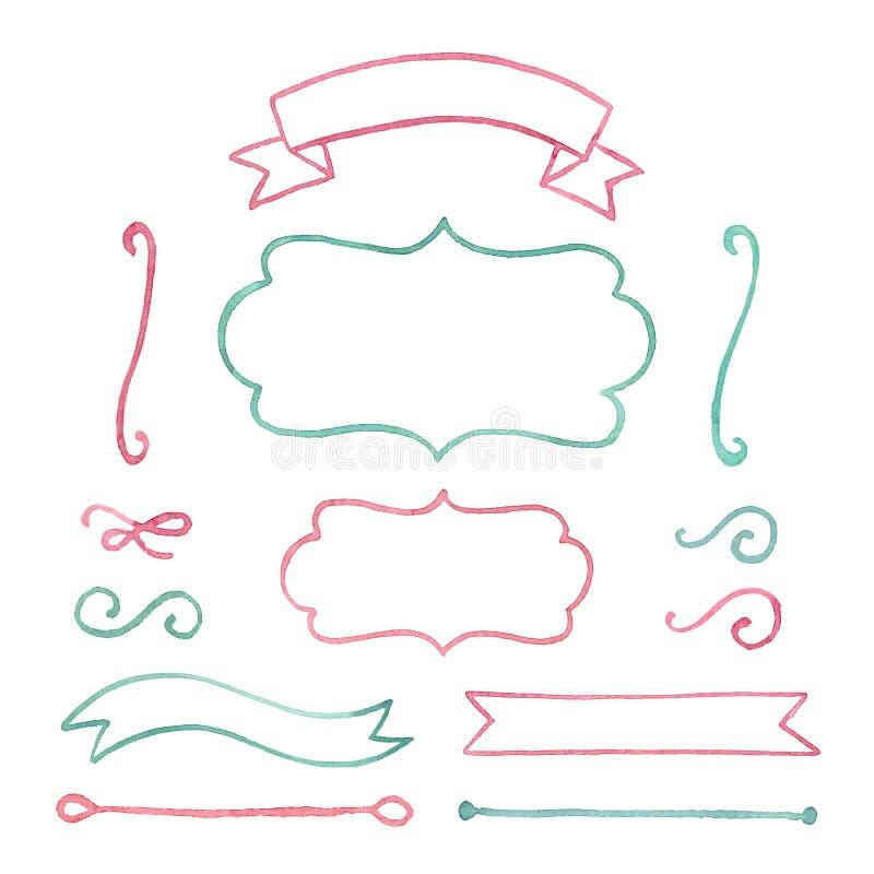 Download Watercolor elements stock vector. Image of announcement - 35733818