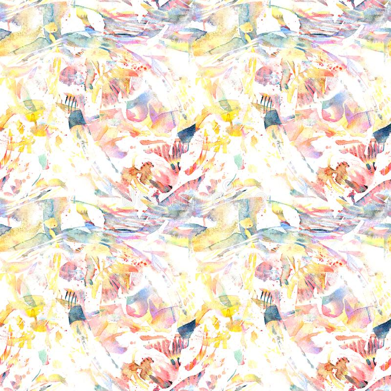 Watercolor ethnic seamless pattern. stock illustration