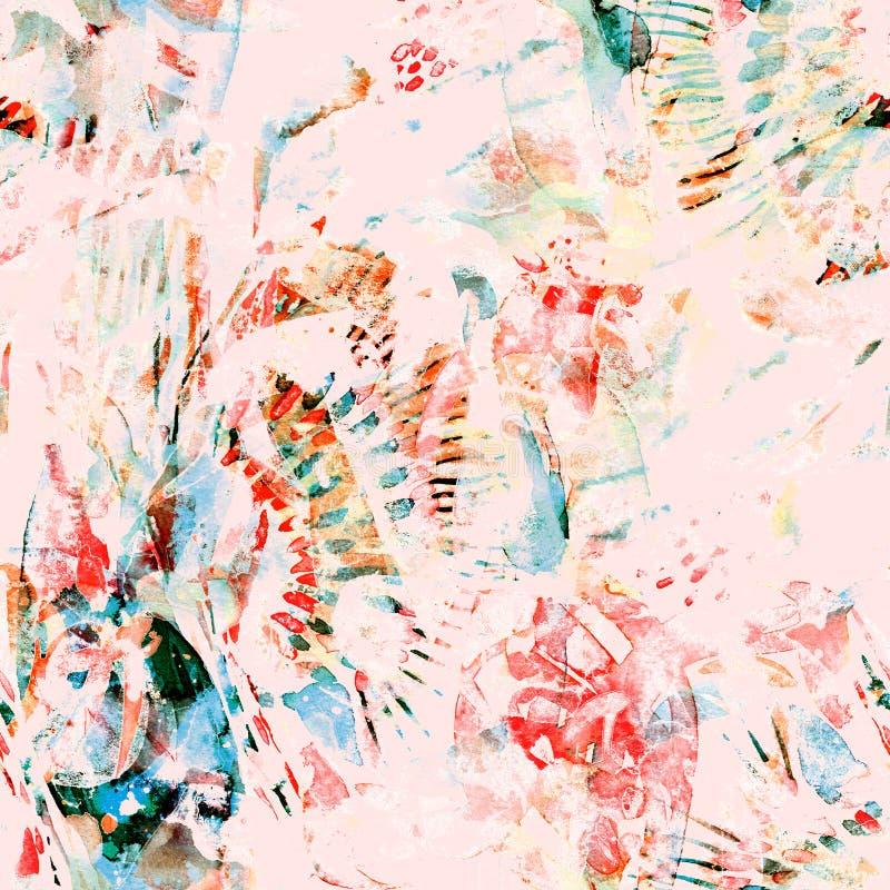 Watercolor ethnic seamless pattern. vector illustration