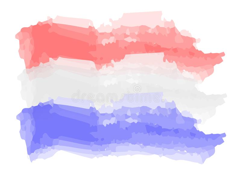 Watercolor flag of the Netherlands stock illustration