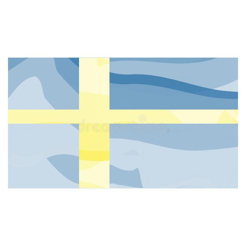 Watercolor flag of Sweden stock illustration