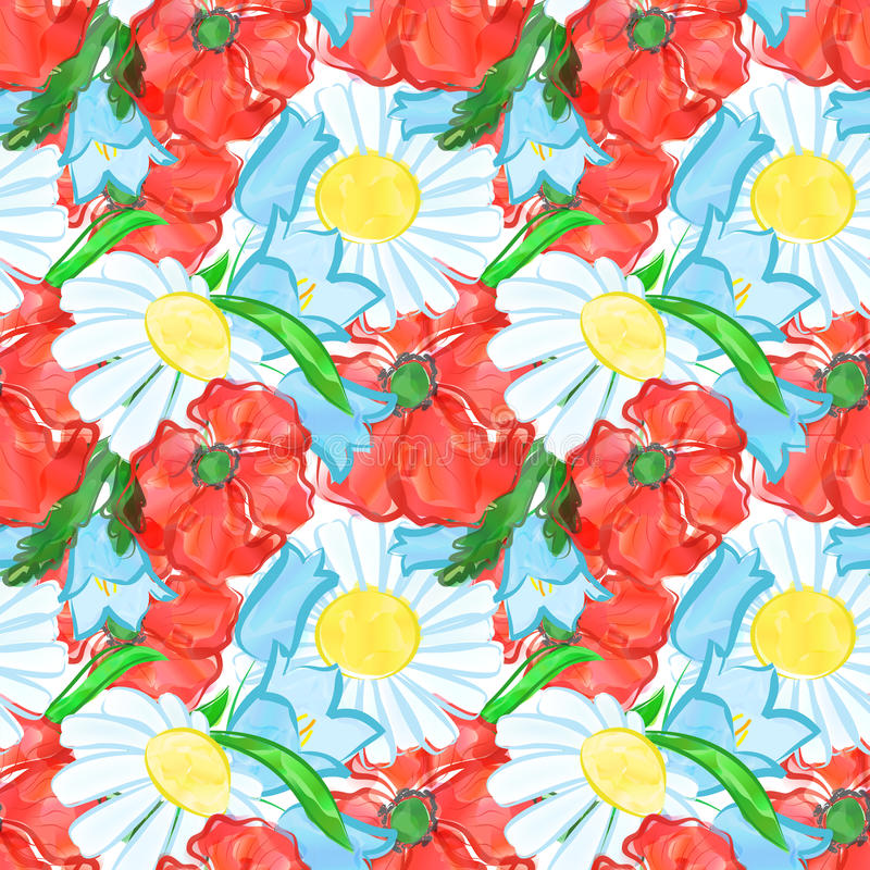 Watercolor flowers background vector illustration