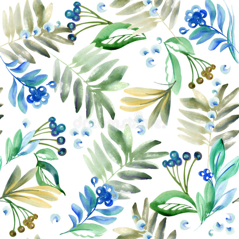 Watercolor flowers and plants watercolor floral natural for Watercolor greenery
