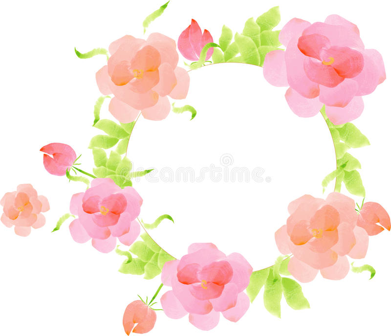 Watercolor flowers template vector illustration