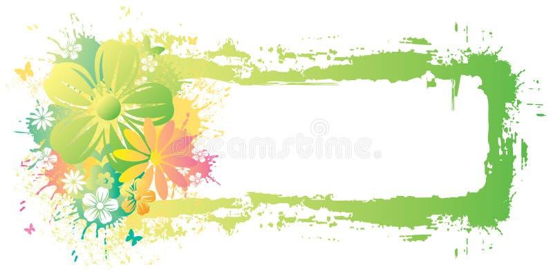 Watercolor frame vector illustration