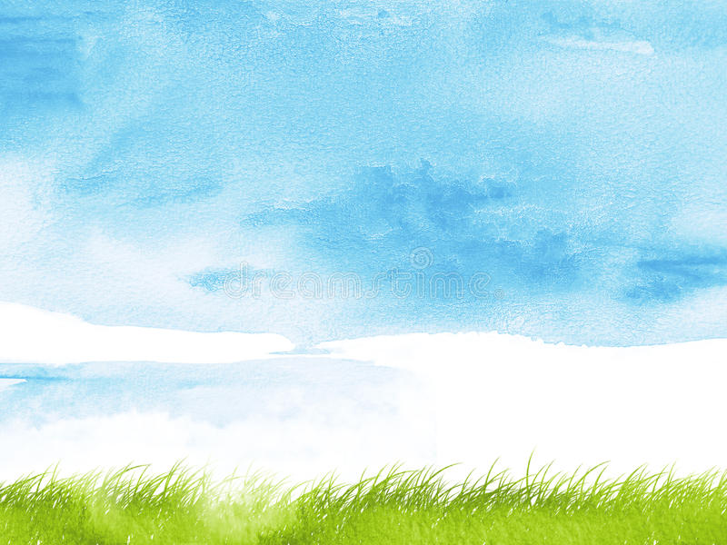 Watercolor grass royalty free illustration