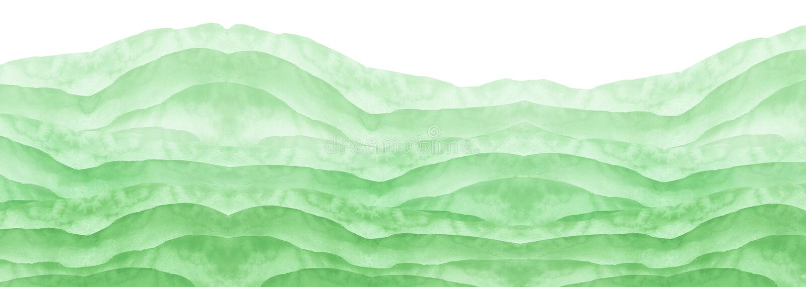 Watercolor green background, blot, blob, splash of  green paint. Watercolor  field, meadow, spot, abstraction. Wild grass, bushes. Watercolor green background stock images