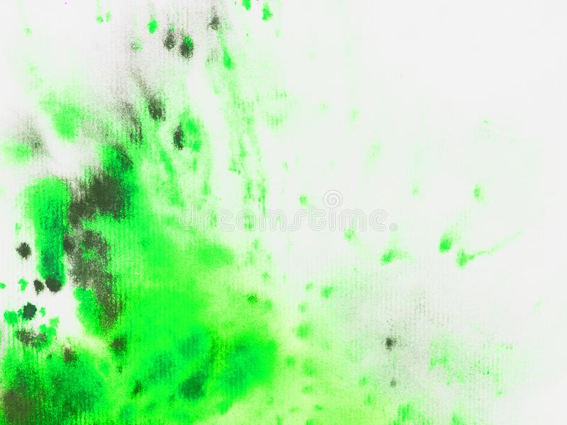 Watercolor green splash texture on white background. For background or design stock images