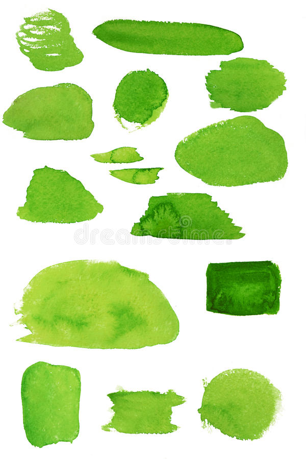 Free Watercolor Green Stains Stock Photography - 83125592