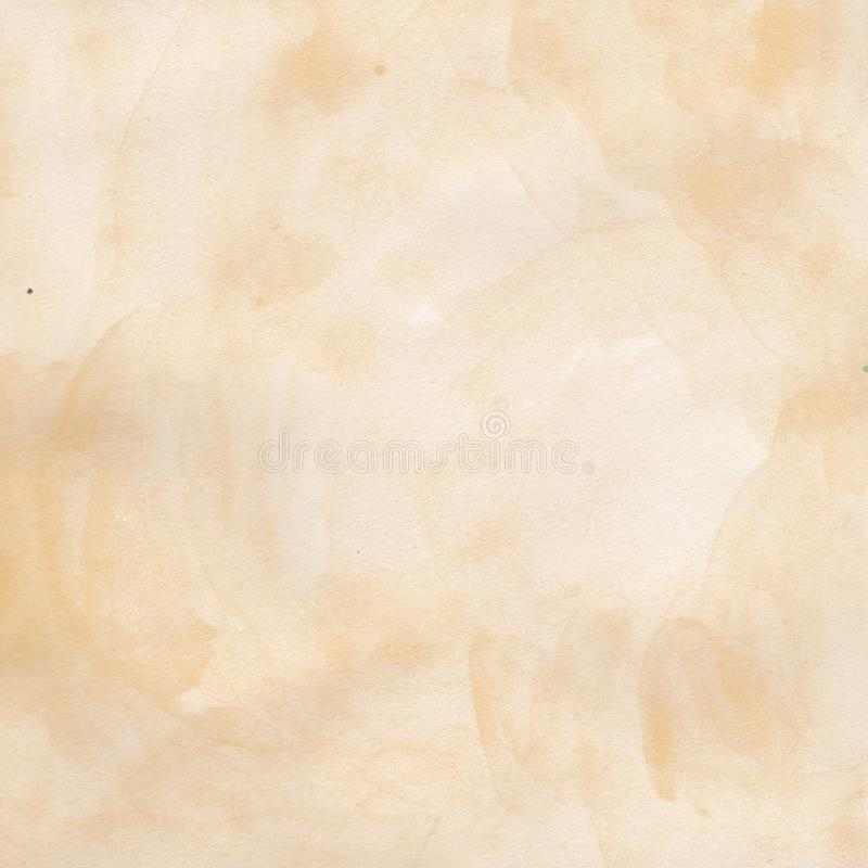 Watercolor hand drawn background beige, sand watercolor background stock illustration