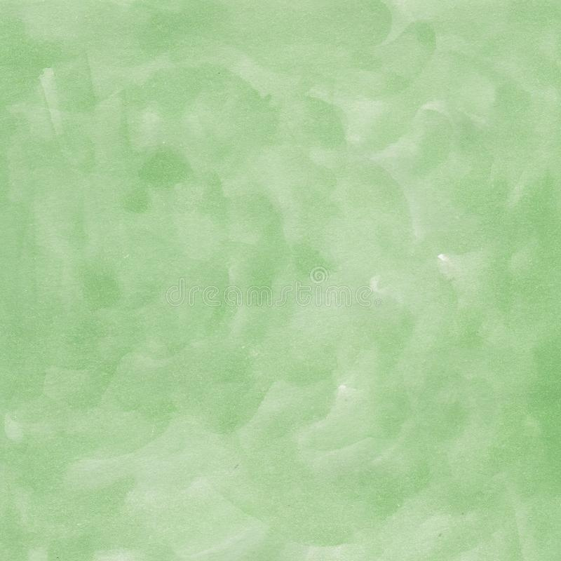 Watercolor hand drawn background green stock illustration
