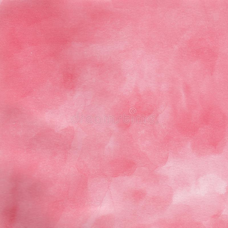 Watercolor hand drawn background rose pink royalty free illustration