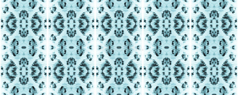 Ikat Seamless Pattern. Watercolor Hand Drawn Batik. Creative Navajo Ikat Background. Allover Cotton Swimwear Design. Geo Ogee Tile. Ogee Seamless Texture. Aztec stock illustration