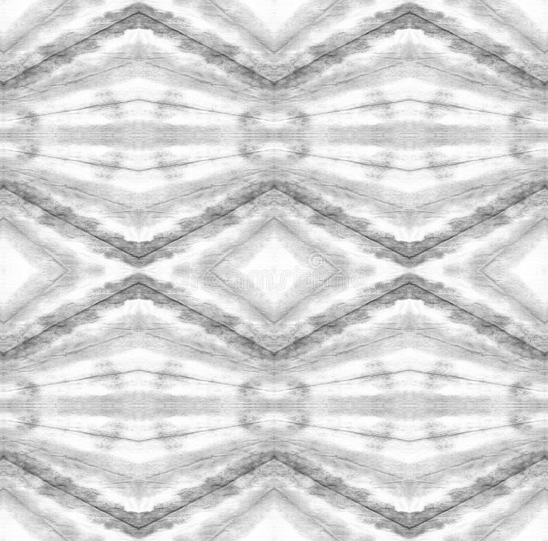 Tie Dye Pattern. Watercolor hand drawn batik. Summer ink japan illustration. Handmade watercolour shirt tie dye pattern. Aztec kaleidoscope texture. Black and stock illustration