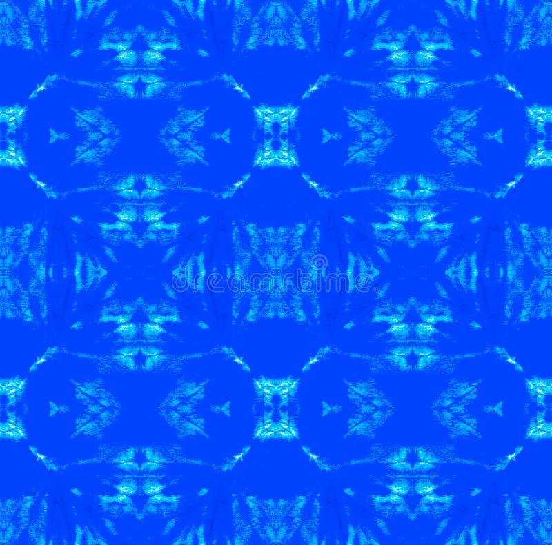 Tie Dye Pattern. Watercolor hand drawn batik. Summer ink japan illustration. Handmade watercolour shirt tie dye pattern. Aztec kaleidoscope texture. Shibori royalty free illustration