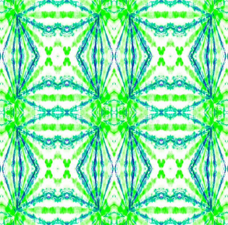 Tie Dye Pattern. Watercolor hand drawn batik. Summer ink japan illustration. Handmade watercolour shirt tie dye pattern. Aztec kaleidoscope texture. Tie Dye royalty free illustration