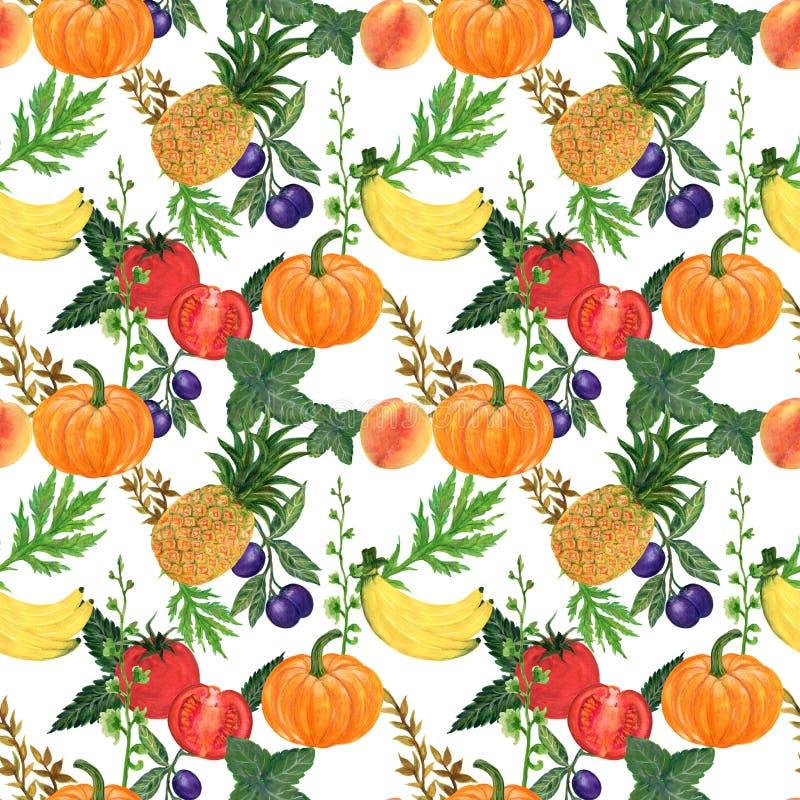 Watercolor hand paint set eco food organic helthy cafe menu design. natural fresh fruits and vegetable illustration vector illustration