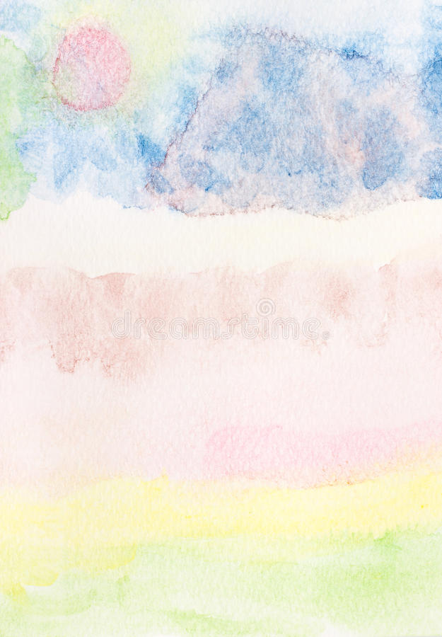 Watercolor hand painted. stock photos