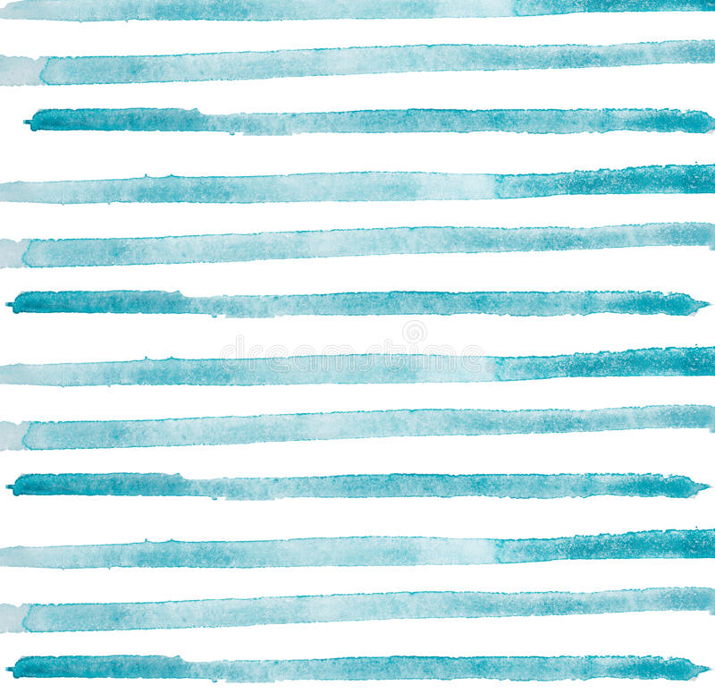 Watercolor hand painted brush strokes, line, banners. Isolated on white background. vector illustration
