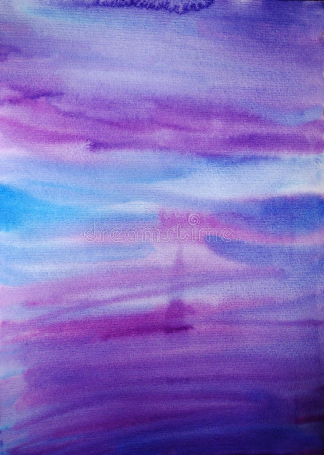 Watercolor hand painted dramatic background stock images